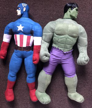 Captain America and Hulk 2.5 Ft Stuffed Plush for Sale in Vernon, CA