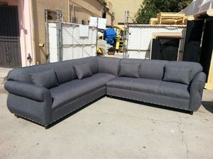 NEW 9X9FT ELITE CHARCOAL FABRIC SECTIONAL COUCHES for Sale in Victorville, CA