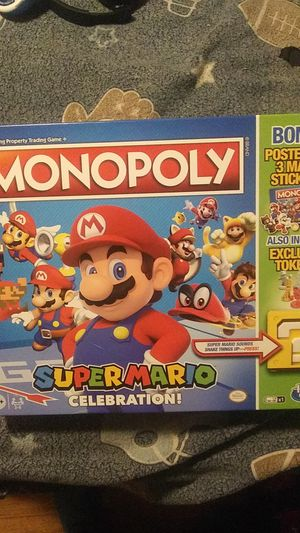 Board game Monopoly game Super Mario Celebration. for Sale in Hollywood, FL