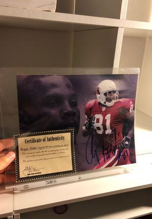 Autographed football picture for Sale in Virginia Beach, VA