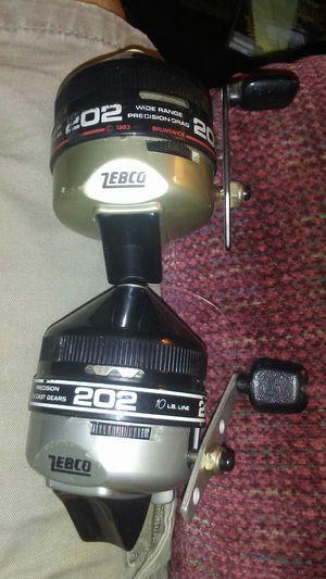 (2)Zebco 202 Fishing Reels for Sale in Burlington, NC