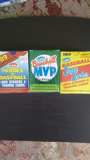 Three sets of baseball collector cards for Sale in Phoenix, AZ