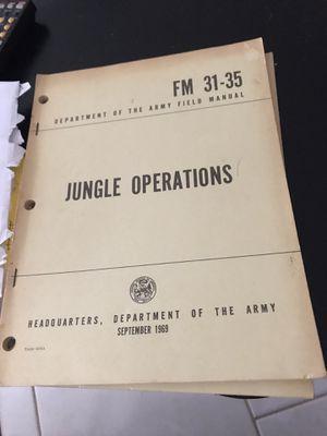 1969 army JUNGLE OPERATIONS for Sale in Brunswick, GA