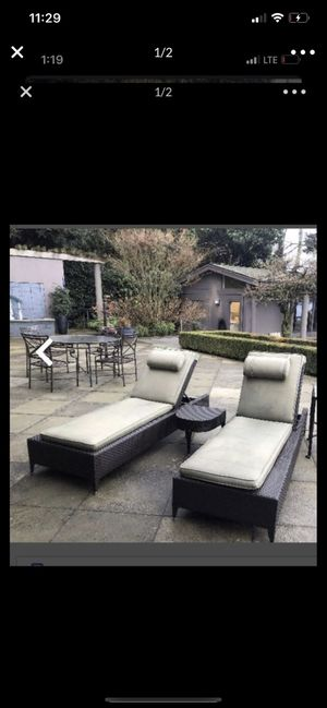 Two chaises lounges without side table 💥💥 for Sale in Tacoma, WA