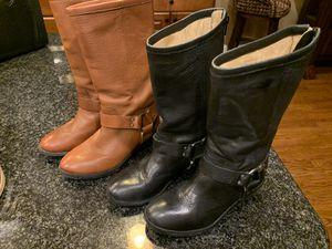 FRYE Boots Girls sz 12.5 Tall Black & Brown for Sale in Marietta, GA