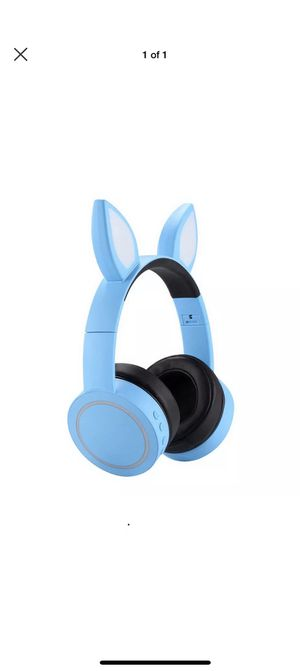 Blue Kids Bluetooth LED Glowing Wireless Headphones for Smartphones and Tablets for Sale in Southlake, TX
