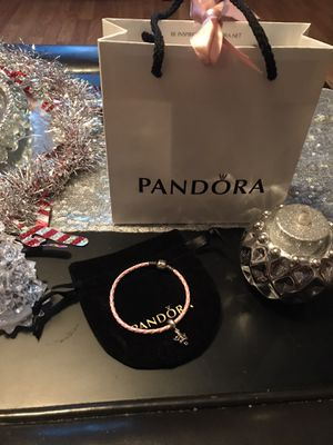 Authentic Pandora bracelet and charm for Sale in Sicklerville, NJ