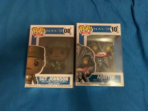 Funko Pop Halo Bundle SGT Johnson and Arbiter for Sale in Long Beach, CA