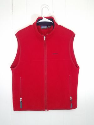 Patagonia Synchilla Fleece Vest Mens Medium Red Full Zip Pockets for Sale in Philadelphia, PA