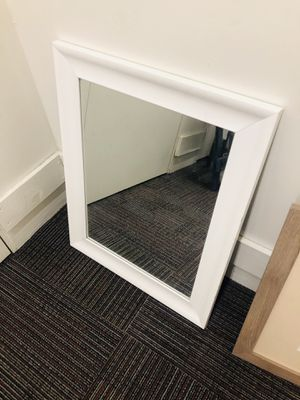 WHITE FRAMED MIRROR for Sale in San Diego, CA