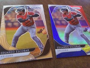 Eduardo Escobar Prizm 2 card lot for Sale in Okatie, SC