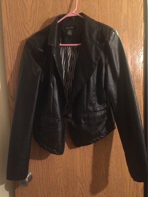 Blazer black leather jacket for Sale in Detroit, MI