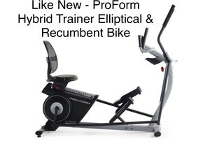 Like New - ProForm Hybrid Trainer Elliptical & Recumbent Bike, iFit Compatible for Sale in Canton, MI
