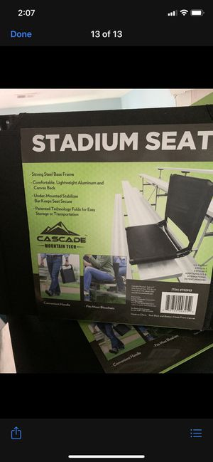 2 brand new stadium seats for Sale in Manassas, VA