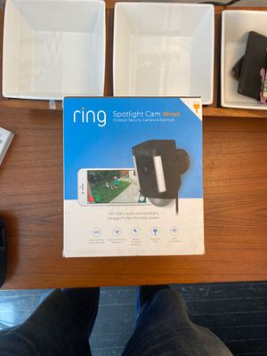 Ring Spotlight Camera (wired) for Sale in Washington, DC