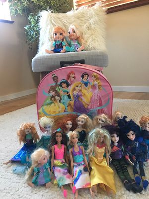 Disney princess dolls, luggage, & more for Sale in Seattle, WA
