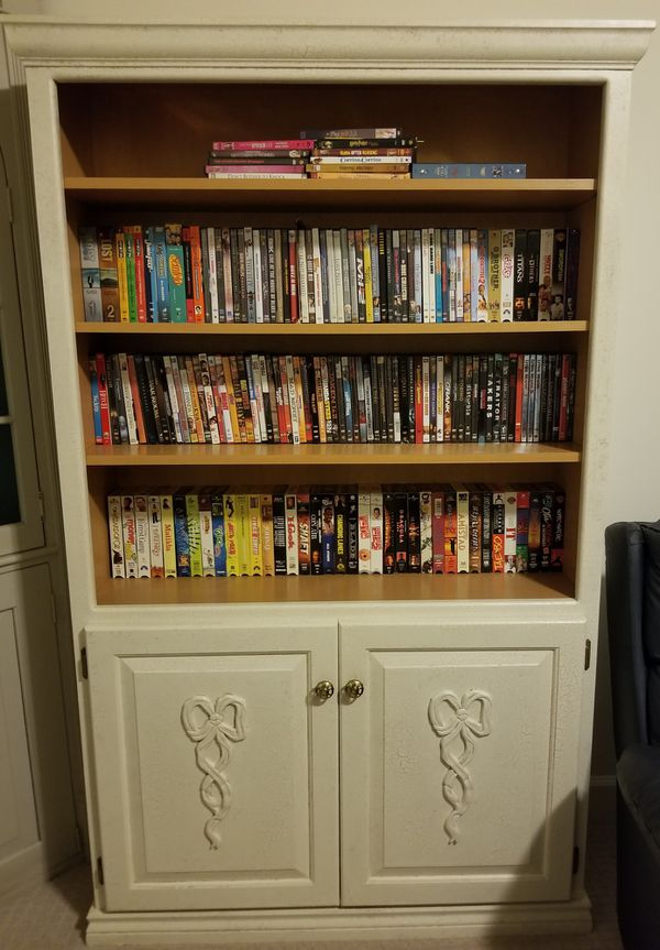 Book/Video Case - 42w x 72h, DVDs, VHS & VHS Player!!!