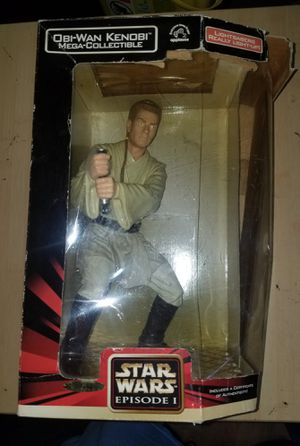 "NEW IN BOX ** Star Wars Episode 1 Obi-Wan Kenobi Mega Collectible 12"" Figure for Sale in Brooklyn, NY"