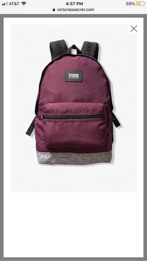 Victoria secret pink burgundy backpack for Sale in Montebello, CA