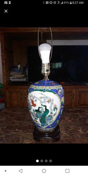 Blue porcelain antique ginger jar lamp for Sale in Hawthorne, CA