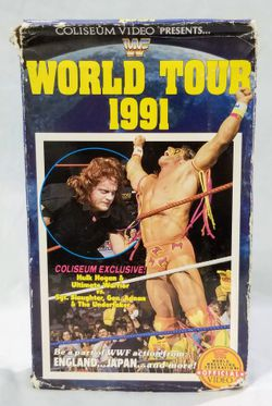 Vintage WWF World Tour 1991 VHS Video WWE for Sale in Piedras Negras,  MX