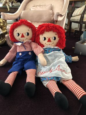 Raggedy ann and Andy for Sale in Staten Island, NY