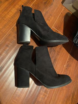 Soda black cutout boots heels for Sale in Irvine, CA