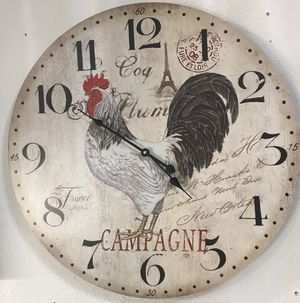 "23"" Rooster clock for Sale in Lakewood, WA"