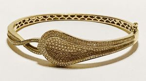 Bony Levy - Solid 18k gold and diamond bangle bracelet for Sale in Lorton, VA