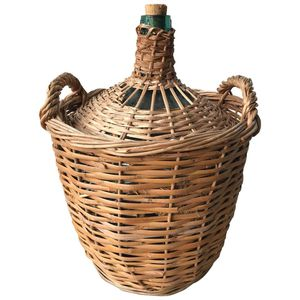 Vintage Mid Century French Wicker Demijohn Bottle Basket Decor for Sale in Miami, FL