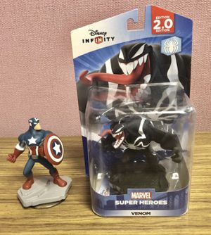 CAPTAIN AMERICA and VENOM Action Figures MARVEL Disney INFINITY for Sale in University Place, WA