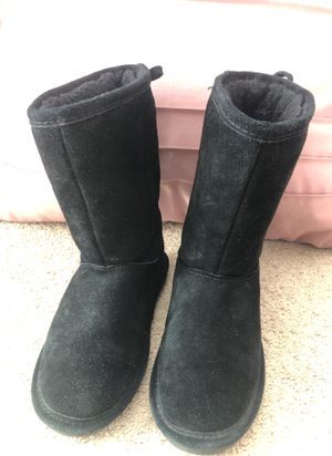 Girls Black Lace Up Boots Size 13 for Sale in New Orleans, LA