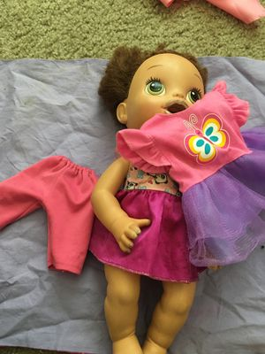 Baby Alive Doll Baby with two other clothing for Sale in Washington, DC