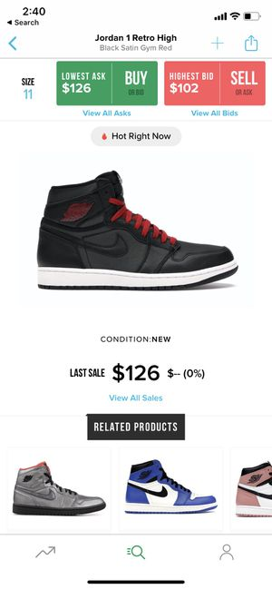 "Air Jordan 1 ""Satin"" sz11 for Sale in Richmond, VA"