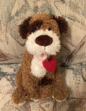 Brand New Hallmark Store Dog Stuffed Animal, Valentine's Day Dog Plush with Heart, Barks and moves head (needs 2 AA batteries) for Sale in Boca Raton, FL