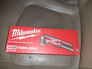 """Milwaukee M12 3/8"""" right angle drill for Sale in Sacramento, CA"""