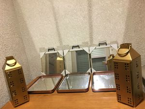 WALL MIRRORS. MIRRORED TRAYS. CANDLE HOLDERS. ALL BRAND NEW. $15 each. GREAT FOR DORM ROOM AND HOME DECOR for Sale in Chatsworth, CA