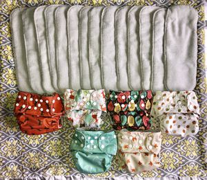6 Adjustable Cloth Diapers & 14 Inserts for Sale in Puyallup, WA