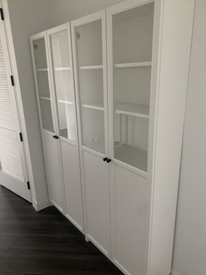 2 Ikea bookshelves used for dishes and food storage (Price: $150 each - $290 for 2) for Sale in New York, NY