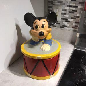 Vintage Disney Mickey on a drum cookie jar for Sale in Zephyrhills, FL