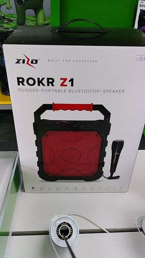 Rokr z1 rugged portable speaker with microphone for Sale in Silsbee, TX