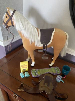 American Girl Doll Horse, TWO SADDLES! and other accessories!! for Sale in Mission Viejo, CA
