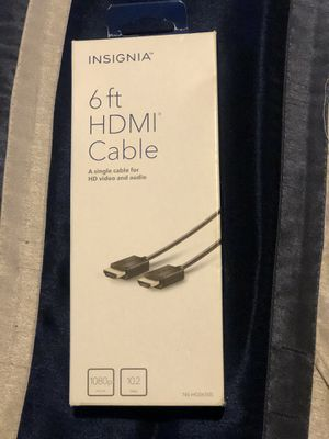 6 ft HDMI Cable for Sale in MAGNOLIA SQUARE, FL