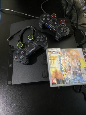 Great Condition PS3 with 2 controllers and naruto for Sale in Long Beach, CA