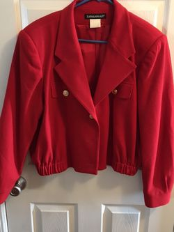 Red short jacket size 14 smoke-free pet free home for Sale in Barnhart,  MO