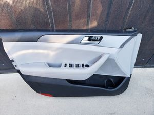 2015 2016 2017 Hyundai Sonata Driver Side Front Door Panel (Grey) w/ Power Switches for Sale in Rio Linda, CA