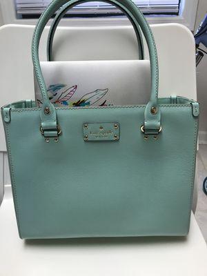 Kate Spade Medium Leather Tote Handbag, Mint Green for Sale in River Edge, NJ