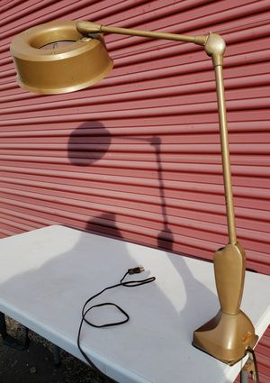 Antique Craft Lamp with Magnifying Glass for Sale in Joliet, IL
