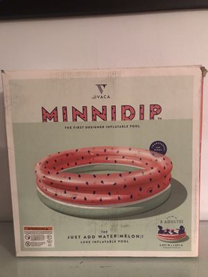 New MINNIDIP Just Add Water(melon) Luxe Inflatable Pool for Sale in La Habra, CA