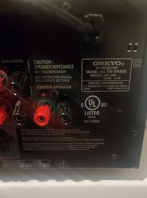 ONKYO TX-SR606 SURROUND SOUND RECEIVER - 5HDMI'S - CLEANED - SERVICED - TESTED for Sale in Austell, GA